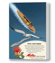 Load image into Gallery viewer, Toward A Richer Tomorrow, Matson Lines Advertisement, 1946