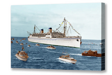 Load image into Gallery viewer, S.S. Lurline Arrival Honolulu, Matson Lines Photograph, 1950s