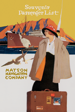 Load image into Gallery viewer, Souvenir Passenger List, Matson Lines, 1920s