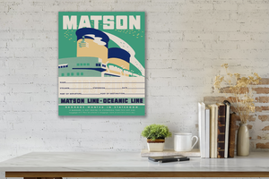 Stateroom Baggage Tag Green, Matson Lines, 1930s