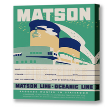 Load image into Gallery viewer, Stateroom Baggage Tag Green, Matson Lines, 1930s