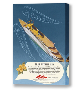 Trail Without End, Matson Lines Advertisement, 1946