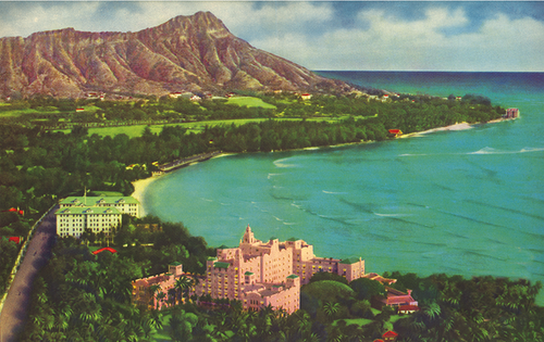 Diamond Head, Royal Hawaiian, Moana, Matson Lines Advertisement, 1930s