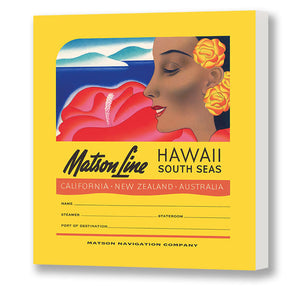Luggage Tag Hawaii South Seas, Matson Lines, 1930s