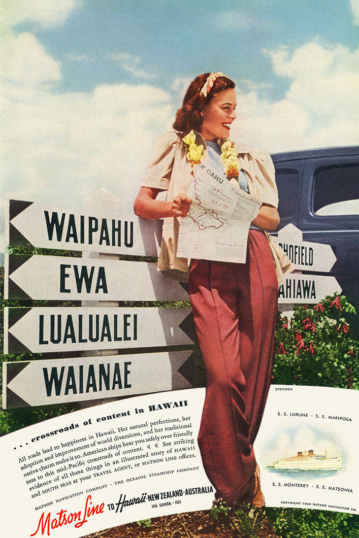 Crossroads, Matson Lines Advertisement, 1940