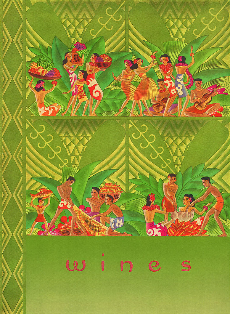 Wines List, Matson Lines Menu Cover, 1940s