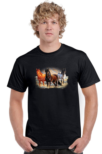 Three Horses Tee Shirt