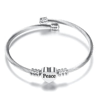 Peace Stainless Steel Bangle