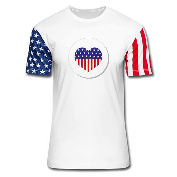 Unisex Stars & Stripes T-Shirt - white
