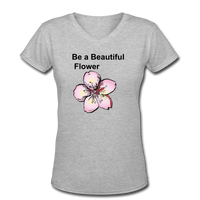 Women's V-Neck T-Shirt - gray