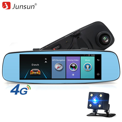 4G Video recorder mirror with two cameras Parking monitor, GPS Navigator ™