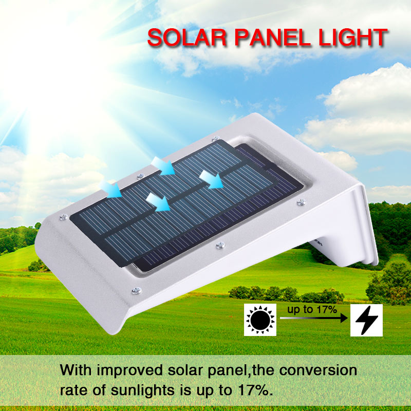 LED Motion Sensor Waterproof Solar Powered Lights