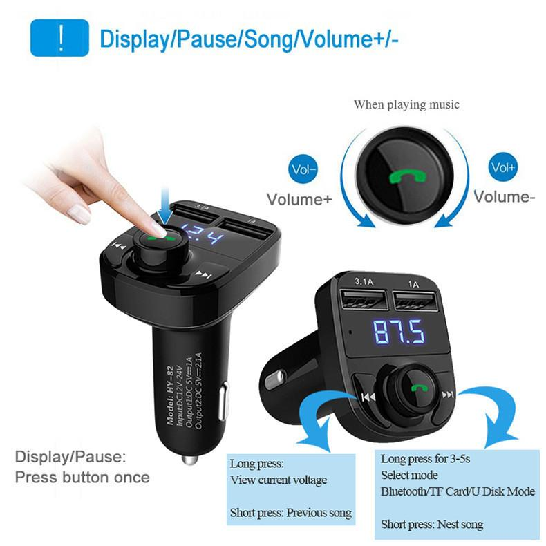 Bluetooth Car Charger MP3 and Radio Player
