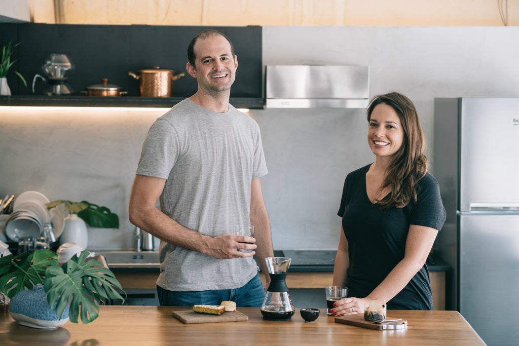 Justin Landsman and Amanda Landsman Founders of Coffee Bear