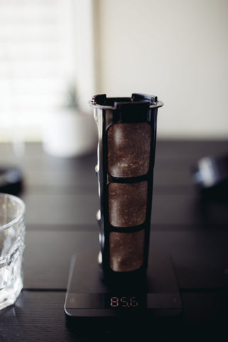 coffee panda cold brew coffee maker filter with grounds