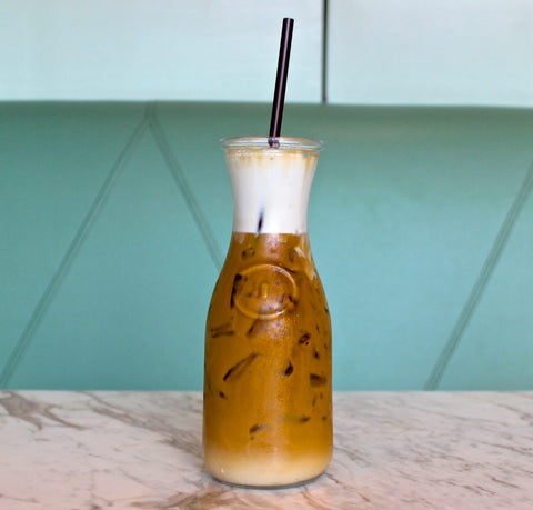 Iced Cold Brew Coffee and Milk Half and Half Coffee Panda Cold Brew Coffee Maker