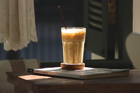 ice latte basking in sun