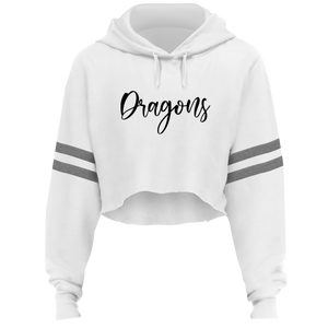 WOMENS DRAGONS CROPPED HOODIE