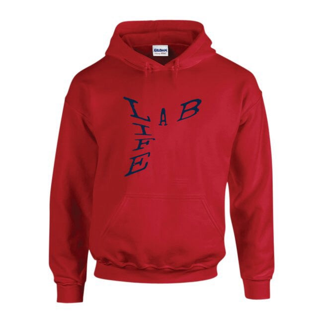 LAB LIFE HOODIE by LABCITY (ALL RED EVERYTHING COLLECTION) *Sale*