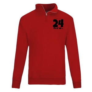 24 Hours Quarter Zip by LABCITY (All Red Everything Collection)