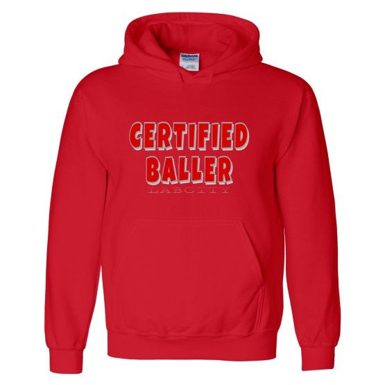 CERTIFIED BALLER HOODIE (ALL RED EVERYTHING COLLECTION) by LABCITY