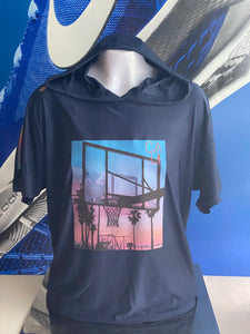 BALLIN' AT THE BEACH (Cali) S/S HOODED TEE by LABCITY