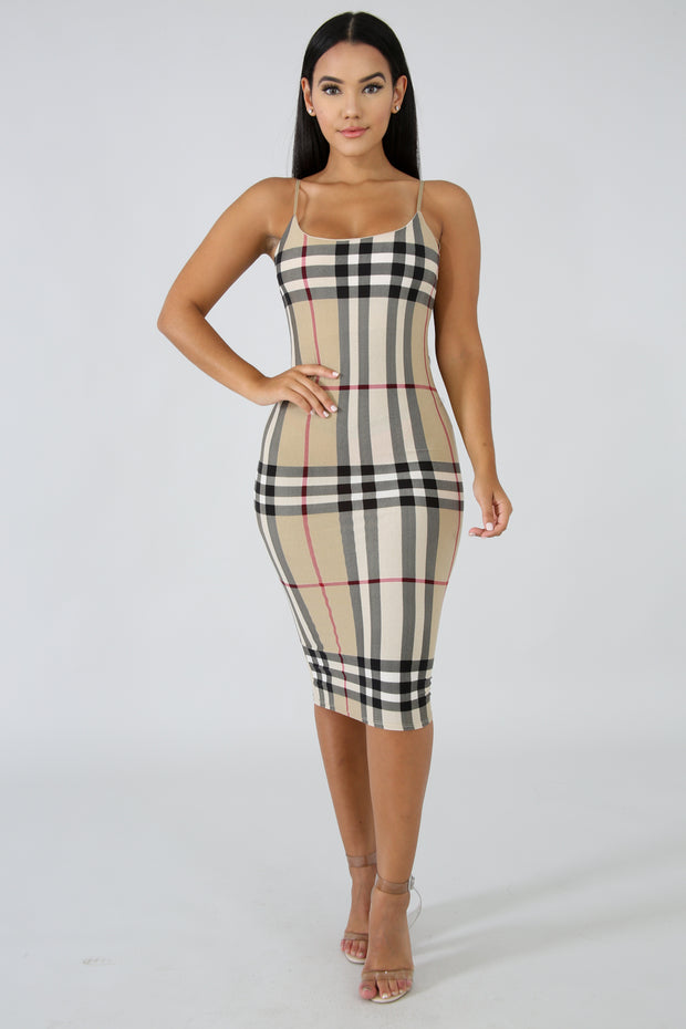 Plaid Midi Dress