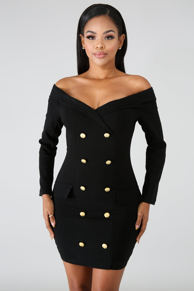 Button Tux Dress