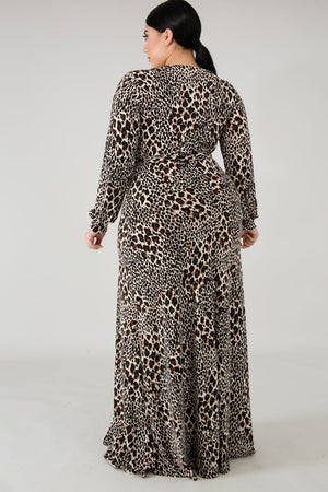 Wild Roaring Maxi Dress - Leopard