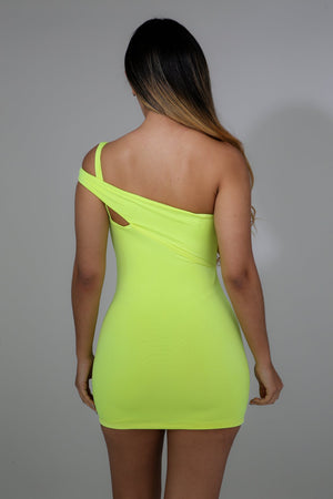Yellow Slack Mini Dress