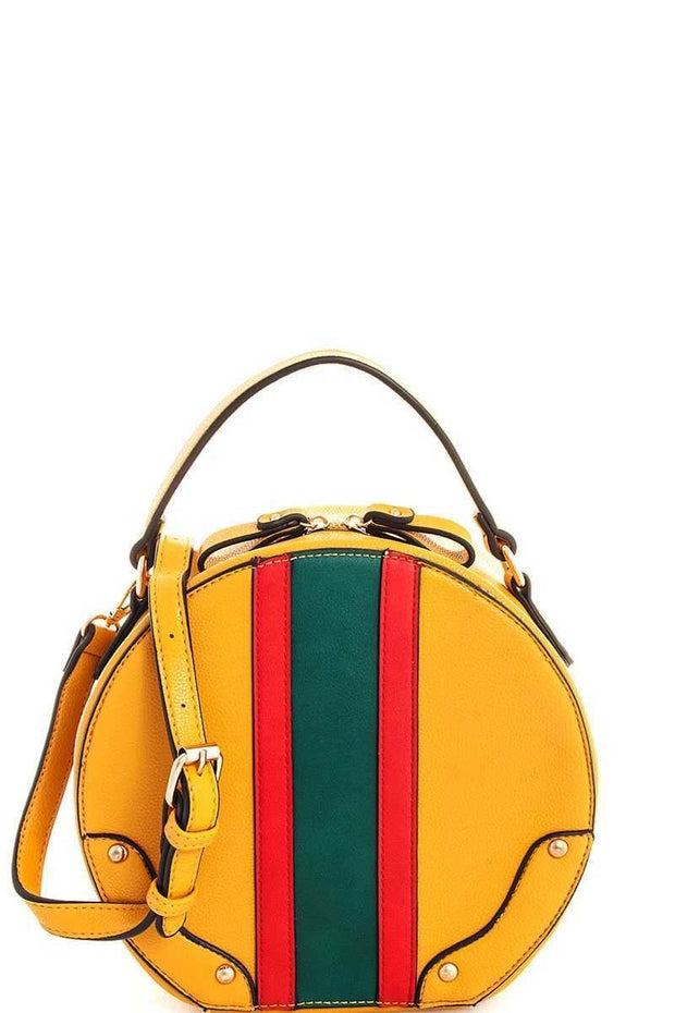 Circle Cross Body Bag - Mustard
