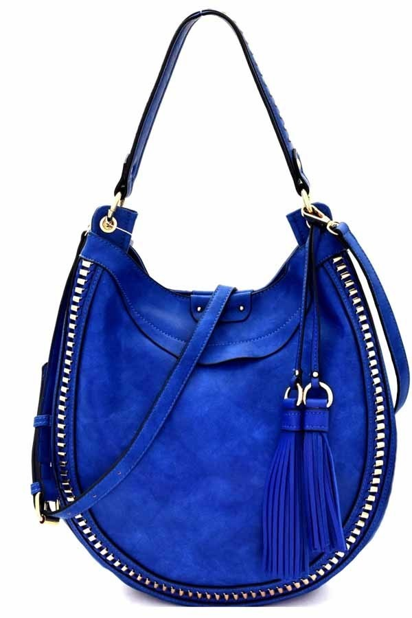 Blue Hobo Shoulder Bag