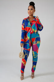 Colorful Chain Pant Set