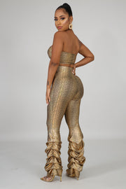 Reptile Scrunched Leggings Set