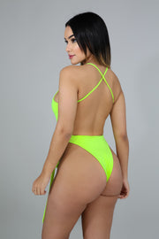 Neon Green Sensual Swim Set