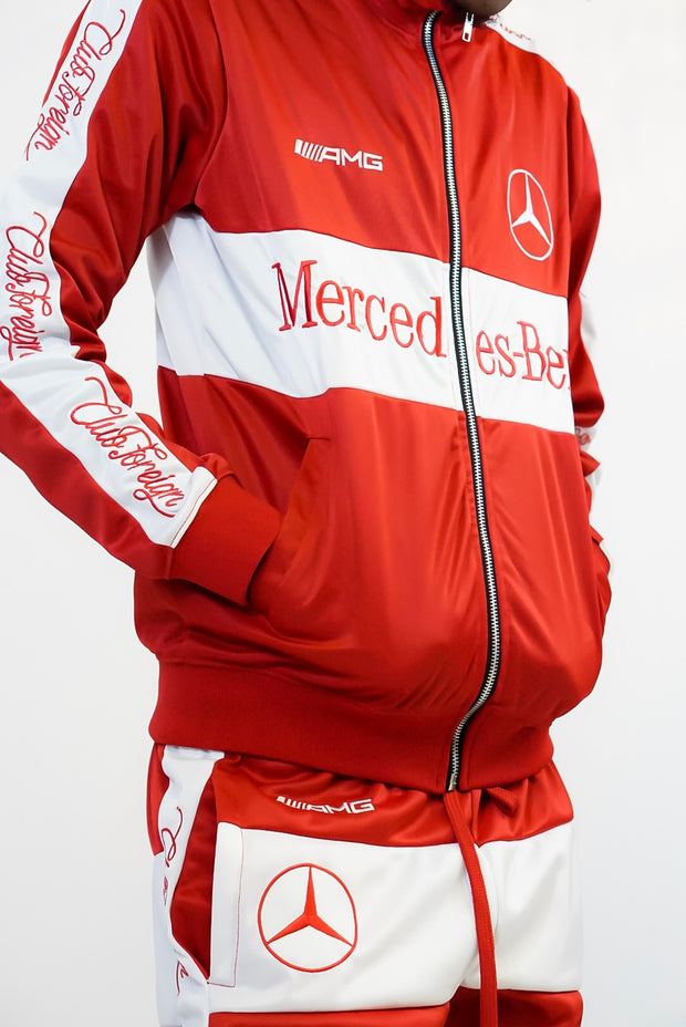 Club Foreign Red/White Mercedes-Benz Tracksuit