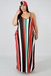 Color Stripe Maxi Dress