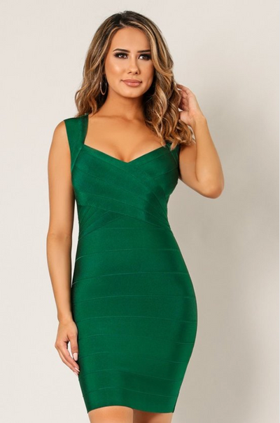 Open Back Midi Bodycon Dress