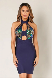 LORENA TwoFer CrissCross Bandage Dress