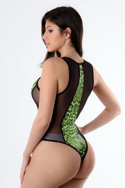 Animal Pattern Bodysuit - Pink or Green