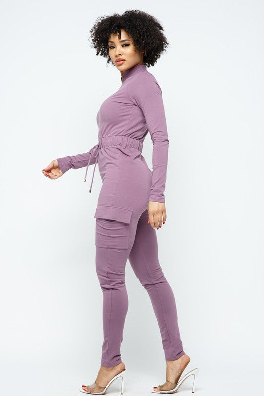FRENCH TERRY JUMPSUIT - 95%COTTON 5%SPANDEX