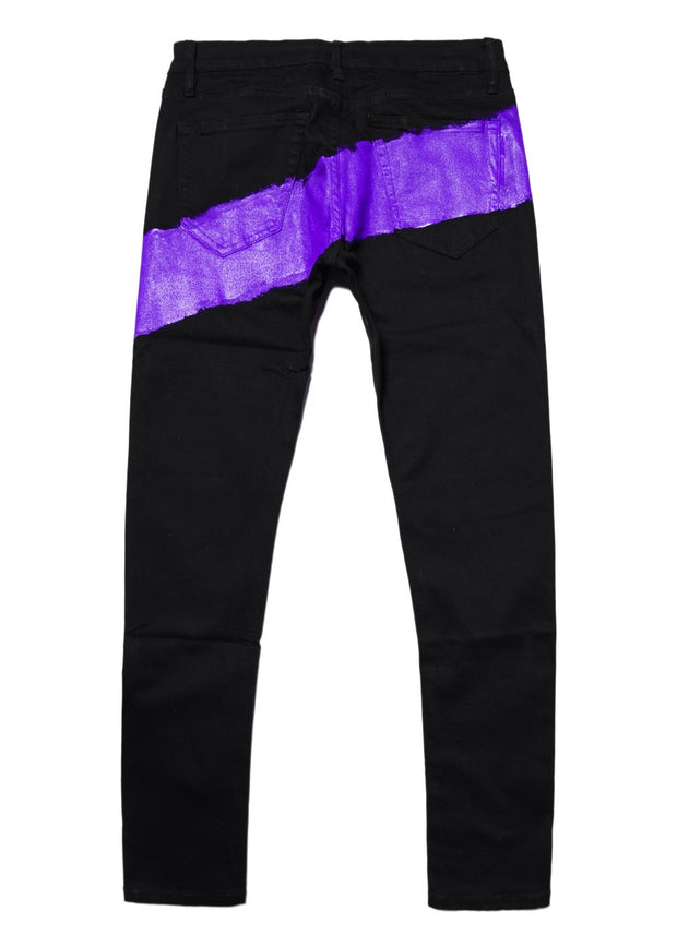 Mursaki Purple Striped jean
