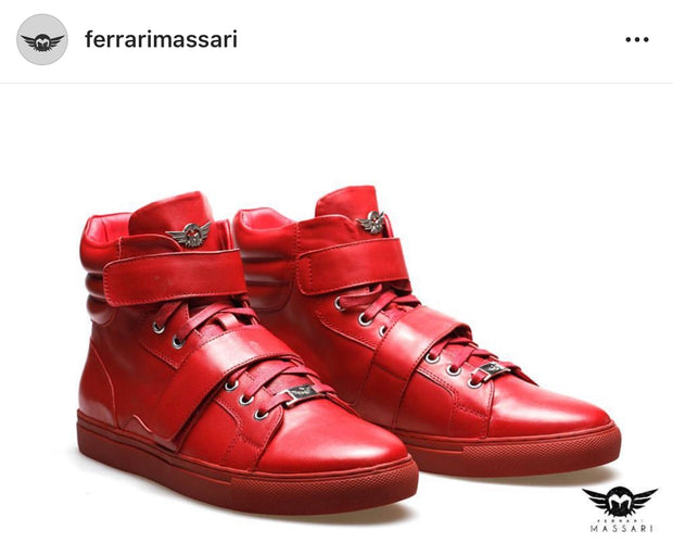 Ferrari Masarri High Top Hustler Red