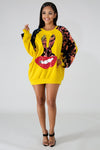 Sequin Bunny Lips Sweater - Pack Only YELLOW