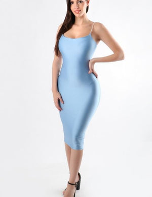 SPAGHETTI BODYCON DRESS