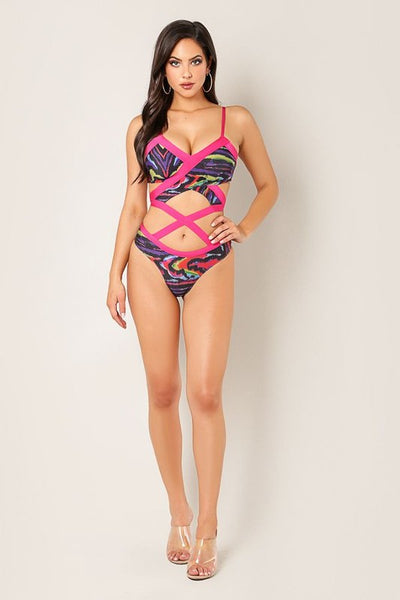 Cut Out One Piece Bathing Suit