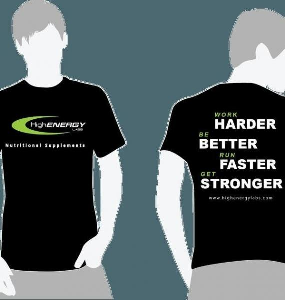 Men's Short Sleeve T-Shirt - High Energy Labs - Nutritional Supplements