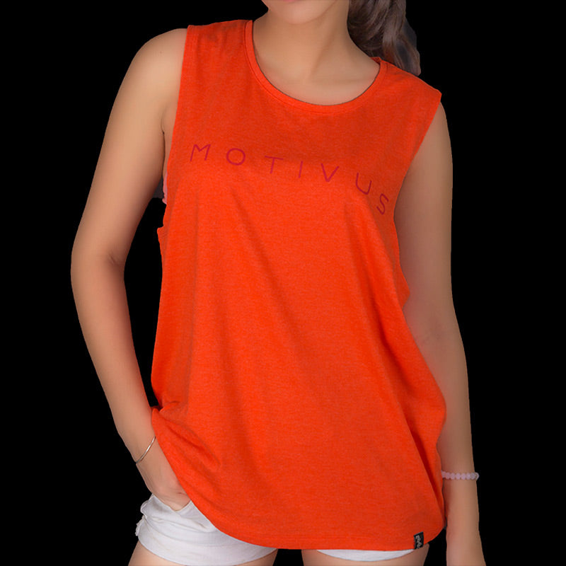 MONOCHROME SERIES Sleeveless - Tangerine Orange