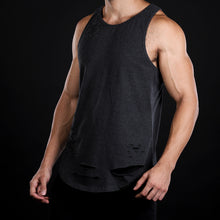 LEGION SERIES Distressed Tank- Black Melange