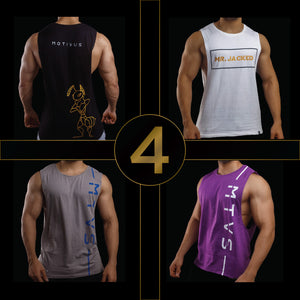 SWOLE PACK- Mens Sleeveless (Pack of 4)
